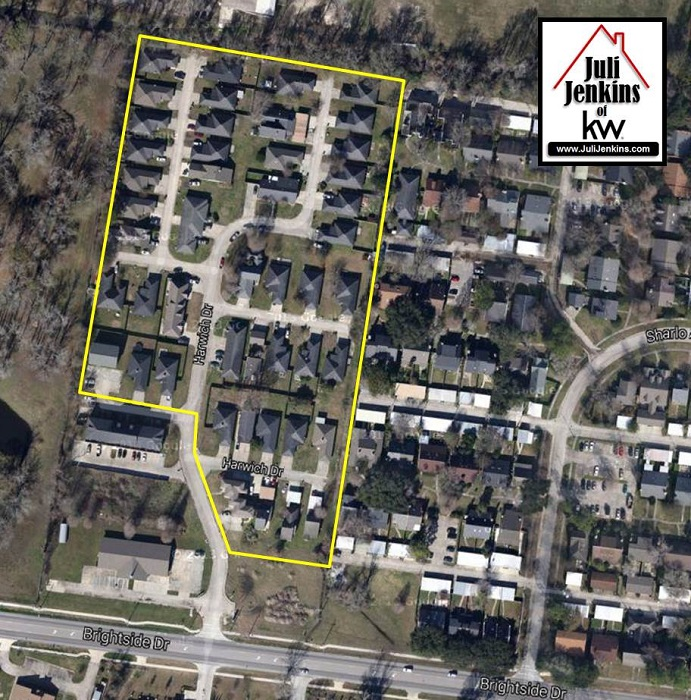 Spm Property Management Highland Manor: Homes In Harwich Subdivision In Baton Rouge Satellite Image